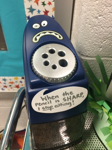 BEST PENCIL SHARPENER EVER! Staples brand that STOPS when pencil is sharp!