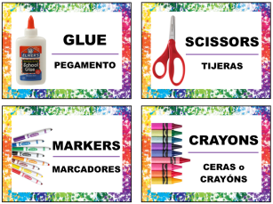 English and Spanish Labels